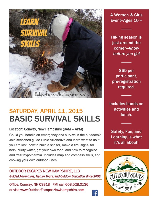 Basic Survival Skills Course Flyer