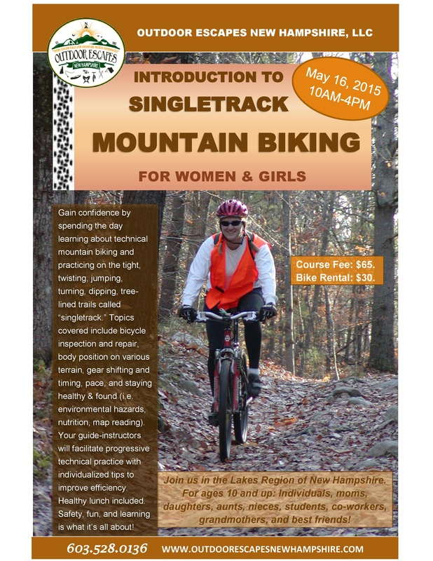 Intro to Singletrack Mountain Biking Flyer